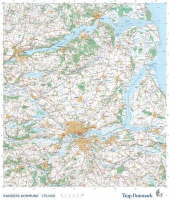 Trap Danmark: Kort over Randers Kommune Trap Danmark 9788771811605