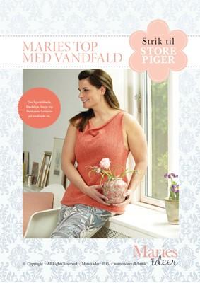 08d42c18a8ac Strikkeopskrift - Maries top med vandfald Maries Ideer 9788793418790