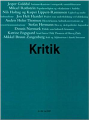 Kritik, 40. årgang, nr. 184 Lasse Horne Kjældgaard, Frederik Stjernfelt 9788702059113
