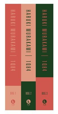 1Q84 Bog 1-3 sæt Haruki Murakami 9788772043173