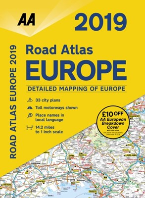 AA Road Atlas Europe 2019 AA Publishing 9780749579678
