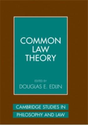 Cambridge Studies in Philosophy and Law Douglas E. (Dickinson College Edlin 9780521176156