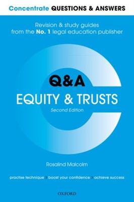 Concentrate Questions and Answers Equity and Trusts Rosalind (Professor of Law Malcolm 9780198817888