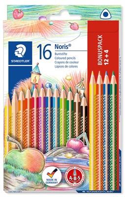 STAEDTLER Noris trekantede farveblyanter, 16 stk. Betal for 12!  4007817011232