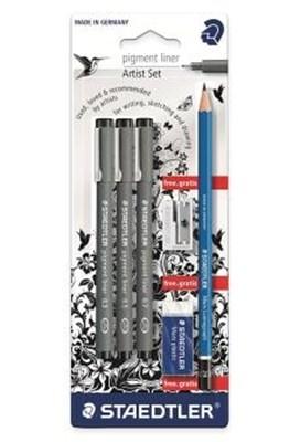 STAEDTLER pigment liner artist sæt  4007817014301