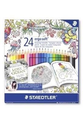 STAEDTLER Ergosoft trekantede farveblyanter 24 stk.  4007817015544