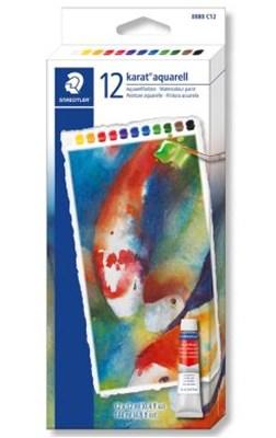 STAEDTLER Karat watercolour akvarel maling, 12 stk.  4007817024195