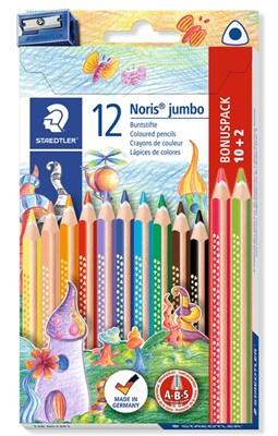 STAEDTLER Noris jumbo trekantede farveblyanter, 12 betal for 10!  4007817036808
