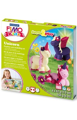 "FIMO Kids sæt, ""Unicorn"" - Enhjørning  4007817037324"