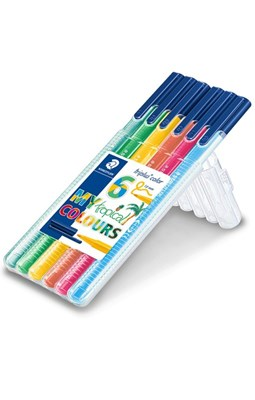 "STAEDTLER Triplus color tusser, 6 stk. ""Tropical colours""  4007817039977"