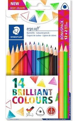 STAEDTLER Ergosoft trekantede farveblyanter, 14 stk. betal for 12!  4007817042410