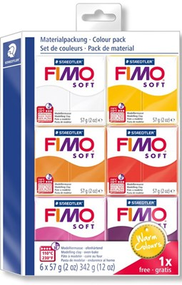 "FIMO Soft Colour pack, ""Warm Colours"" 6 stk.  4007817042991"