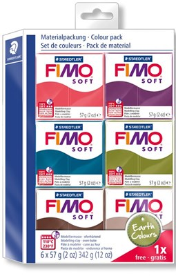 "FIMO Soft Colour pack, ""Earth Colours"" 6 stk.  4007817043035"