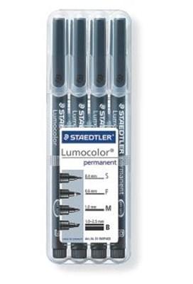 STAEDTLER Lumocolor universal penne, 4 stk. i stand-up boks  4007817310083