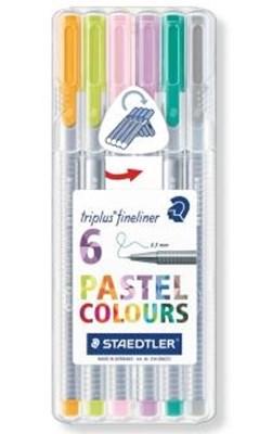 STAEDTLER Triplus fineliner, 6 stk. pastelfarver  4007817336007