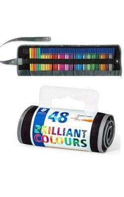 STAEDTLER Triplus color tusser, 48 stk. i rullepenal  4007817337189