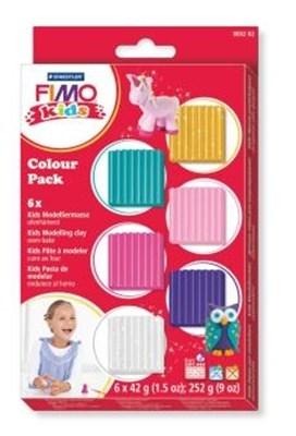FIMO Kids ler, 6 glitterfarver  4007817805183