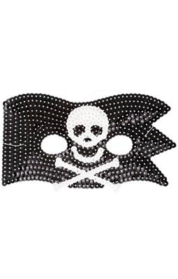 Rice Maske med pailletter, Pirat  5708315126068