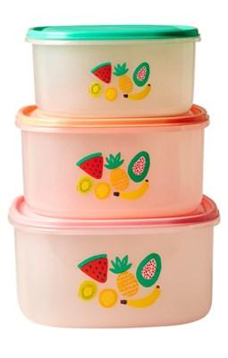 RICE Madbokse med Tutti Frutti print, 3 stk.  5708315149760
