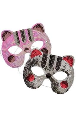 Rice Maske med pailletter, Kat ass.  5708315152975