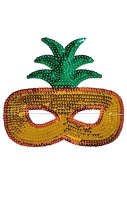 Rice Maske med pailletter, Ananas  5708315152982