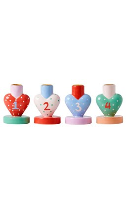 RICE Keramik Adventsstager, 4 stk.  5708315161687