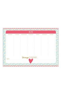 Rice Ugekalender A4 - Desk Planner  8718924518410