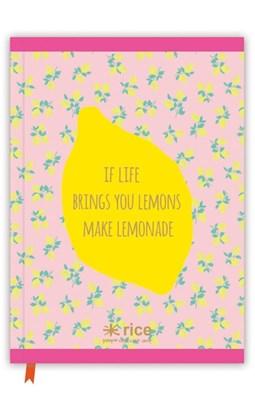 Rice Notesbog A4, If life brings you lemons  8718924519707