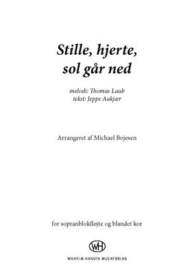 Stille hjerte, sol går ned Michael Bojesen, Thomas Laub, Jeppe Aakjær 9788759892817