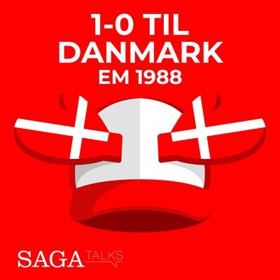 1-0 til Danmark - EM 1988 Michael Ørtz Christiansen, Morten Olsen 9788726046946