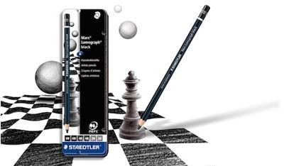 STAEDTLER Mars Lumograph black artist blyanter, 6 stk. i metalæske  4007817185568