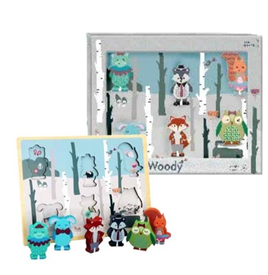 Chunky woody Puzzle Ukendt forfatter 5704976059875
