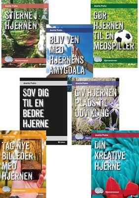 Serie med syv minibøger - Hjernevenner Anette Prehn 9788771607512