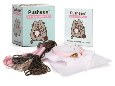 Pusheen: A Cross-Stitch Kit Claire Belton 9780762492275