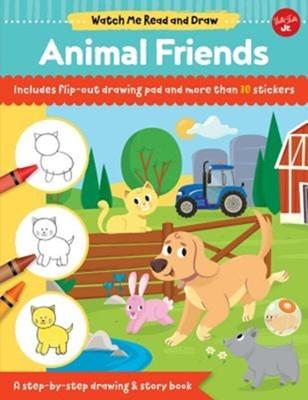 Watch Me Read and Draw: Animal Friends Samantha Chagollan 9781633226593