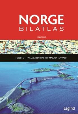 Norge Bilatlas 1:800.000  9788771552690