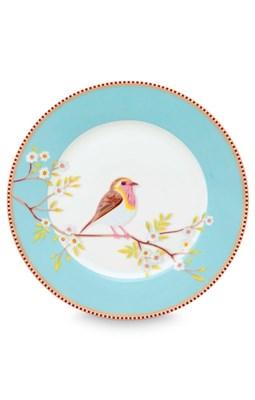 PIP Studio - Tallerken 21 cm, Æske med 6 stk. Floral Early Bird Blue  8718403622423