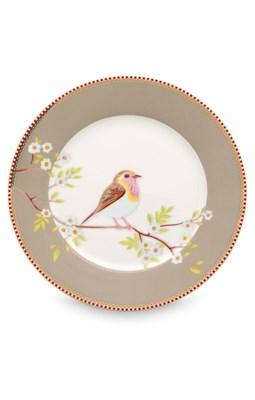 PIP Studio - Tallerken 21 cm, Æske med 6 stk. Floral Early Bird Khaki  8718403622430