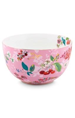 PIP Studio - Skål/Bowle 23 cm, Floral Hummingbirds Pink  8718924025031