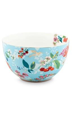 PIP Studio - Skål/Bowle 23 cm, Floral Hummingbirds Blue  8718924025079