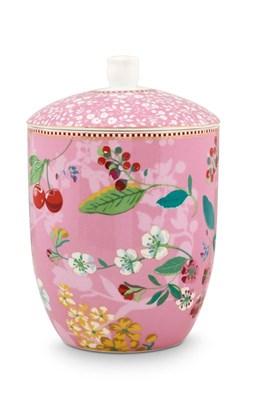 PIP Studio - Krukke, Floral Hummingbirds Pink  8718924025819