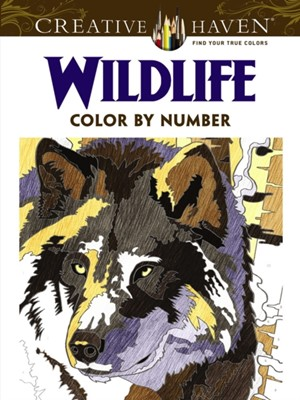 Creative Haven Wildlife Color by Number Coloring Book Diego Pereira 9780486798561