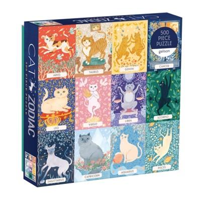 Cat Zodiac 500 Piece Puzzle Sarah McMenemy 9780735357068