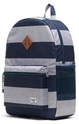Herschel Rygsæk Heritage Youth XL, Border Stripe blå/grå  0828432247776