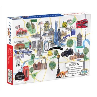 London Map 1000 Piece Puzzle Galison 9780735356931