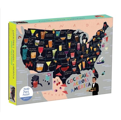 Cocktail Map Of The USA 1000 Piece Puzzle Sarah McMenemy 9780735357860