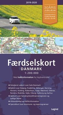 Faerdselskort Danmark 2019 2020 Af