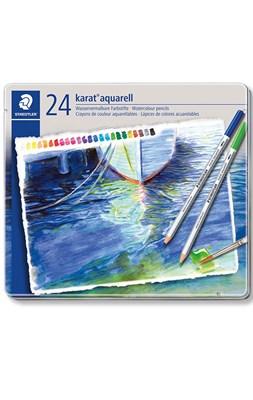 STAEDTLER karat akvarel farveblyanter, 24 stk. i metalæske  4007817124079