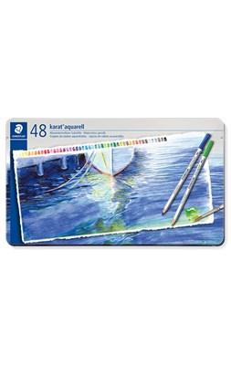 STAEDTLER karat akvarel farveblyanter 48 stk. i metalæske  4007817124314