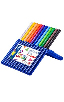 STAEDTLER Ergosoft JUMBO trekantede farveblyanter, 12 stk. i stand-up boks  4007817158081